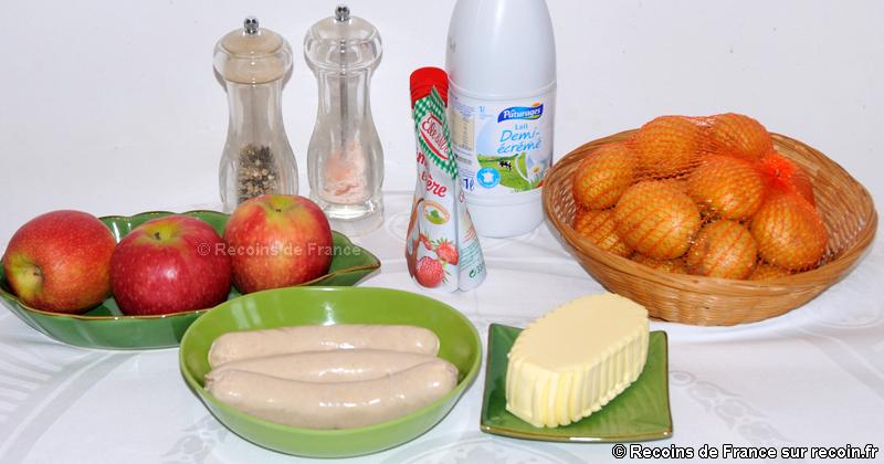 Boudins blancs aux pommes