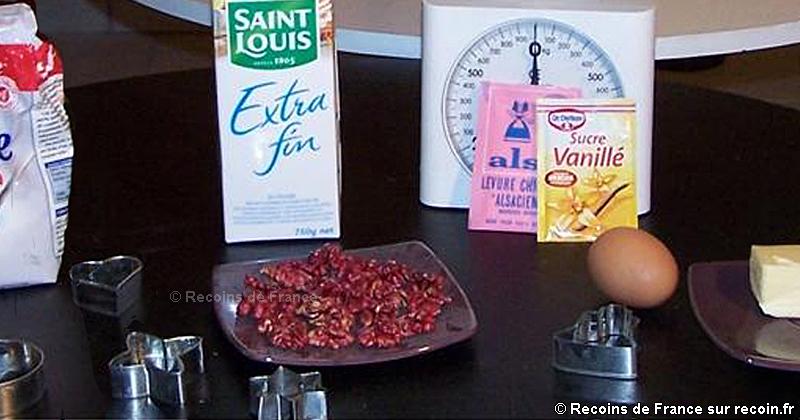 Bredeles aux noix Gâteaux de Noël alsaciens