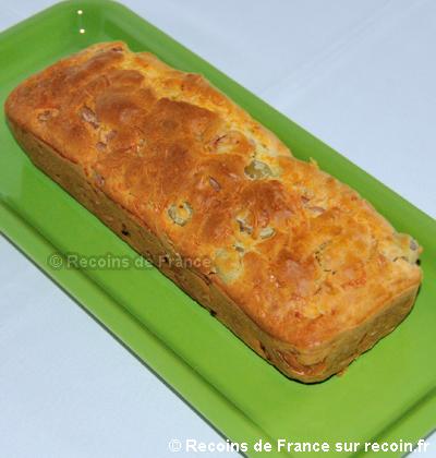 Cake aux olives et au jambon sans gluten