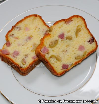 Cake olives jambon