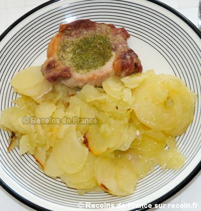 Côtes de porc aux pommes de terre