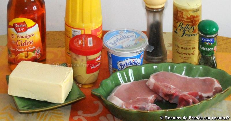 Côtes de porc sauce moutarde