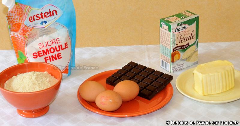 Ingredient pour gateau au chocolat