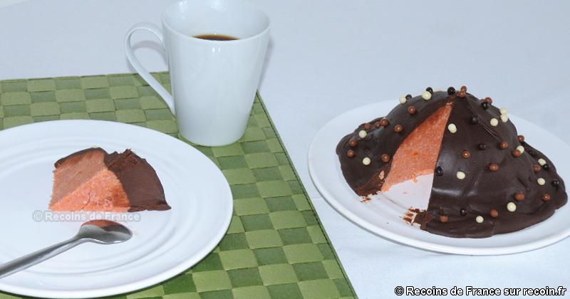 Gâteau rose de Reims au chocolat