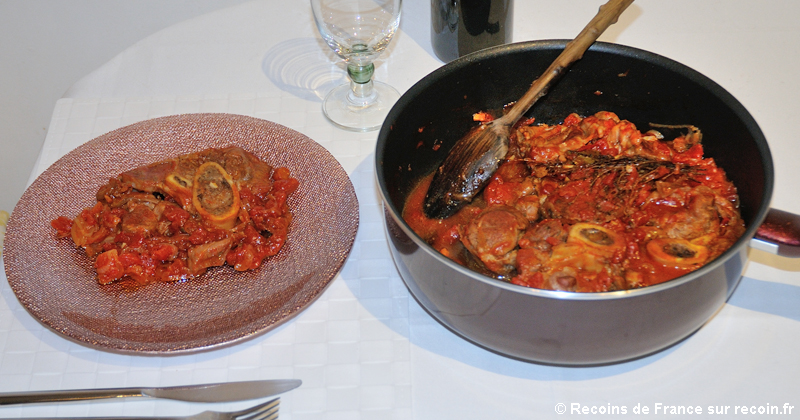 Jarret de veau à la tomate