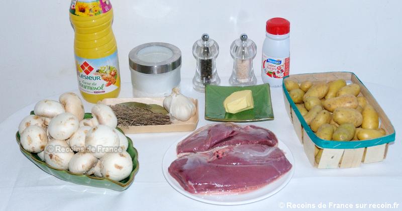 Magret de canard aux pommes de terre grenaille