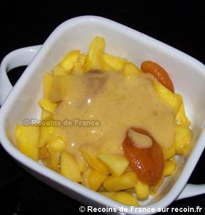 Délice de mangue au pain d'épice