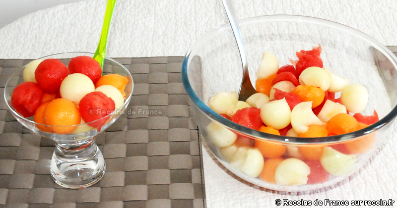 Coupe melon pastèque