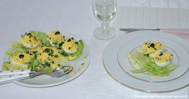 Oeufs mimosas