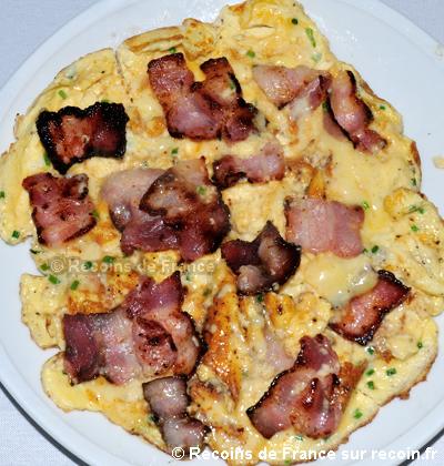 Omelette au lard
