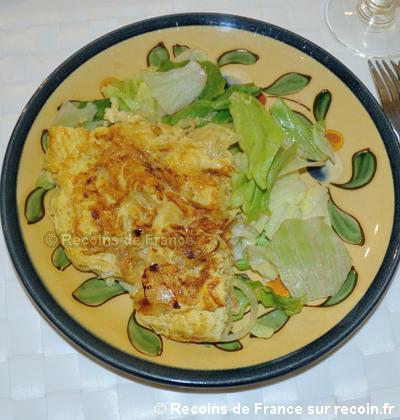 Omelette aux oignons