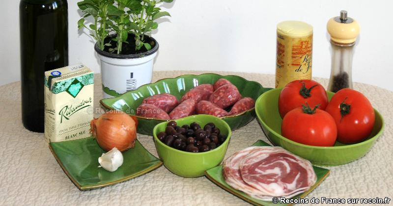 Pérugines à la tomate