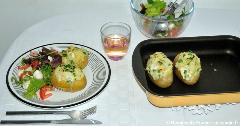 Pommes de terre farcies au fromage de chèvre