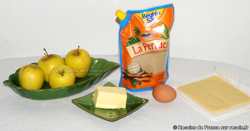 Pommes feuilletées au four