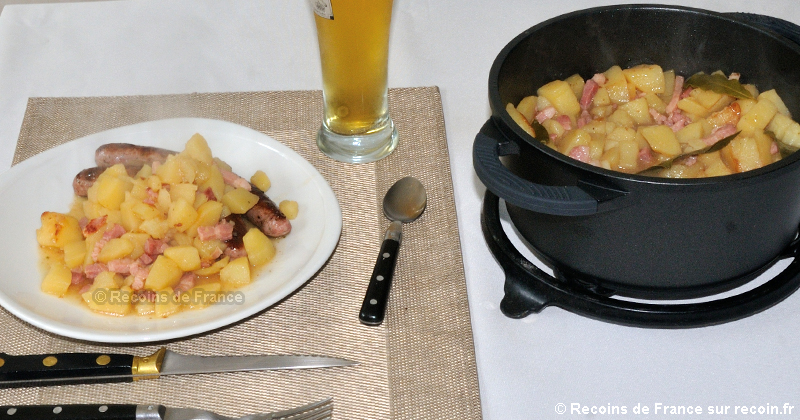 Ragoût de pommes de terre au lard