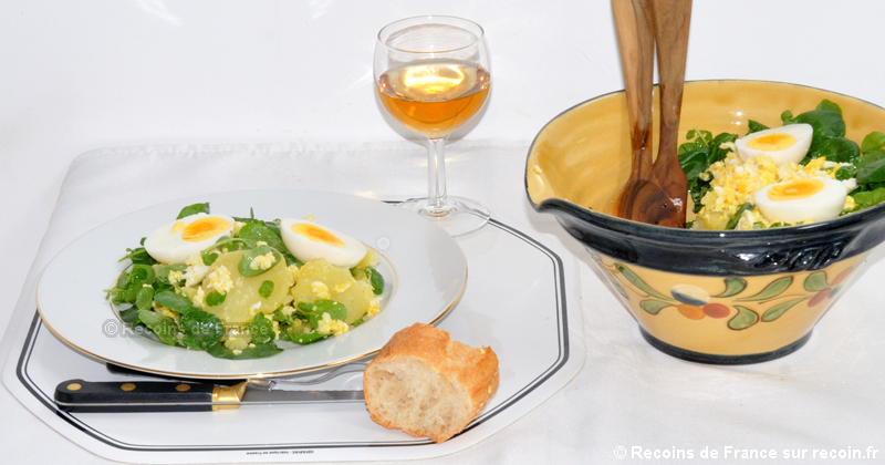 Salade de Cresson aux oeufs