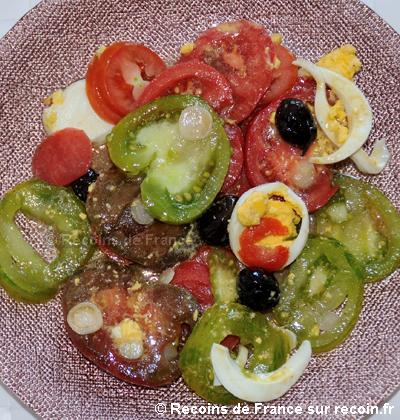 Salade de tomates à l'ancienne