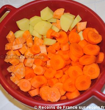 Soupe de carottes et oeuf poché