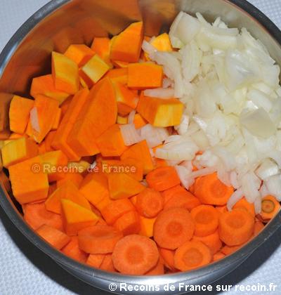 Soupe de courge butternut aux carottes
