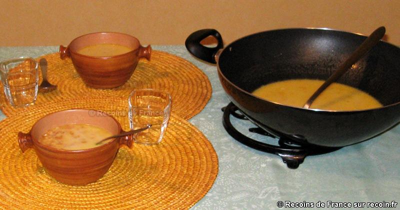 Soupe aux pâtes grillées