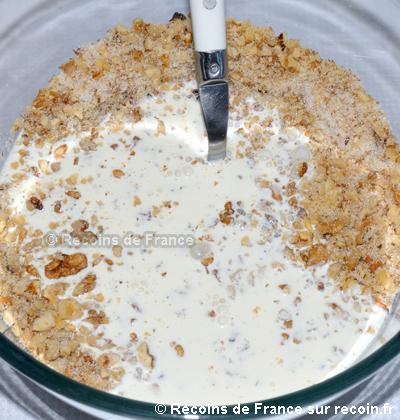 Tarte à la crème et aux noix