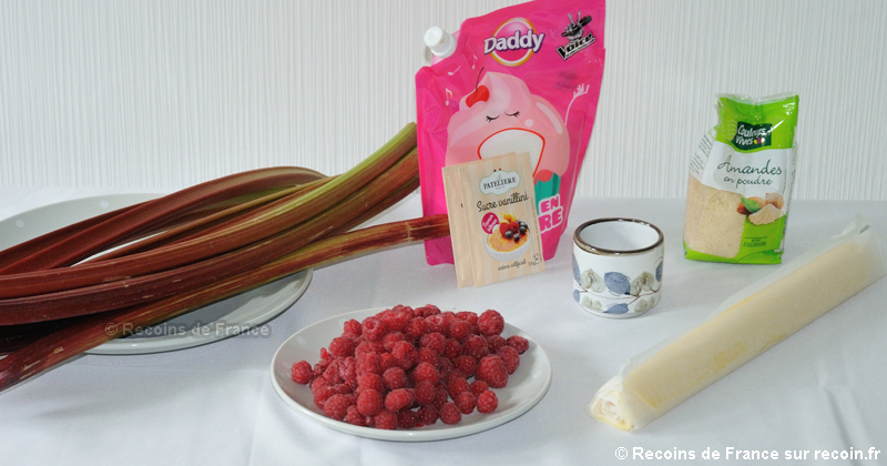 Tarte rhubarbe framboises