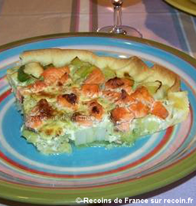 Tarte saumon poireaux