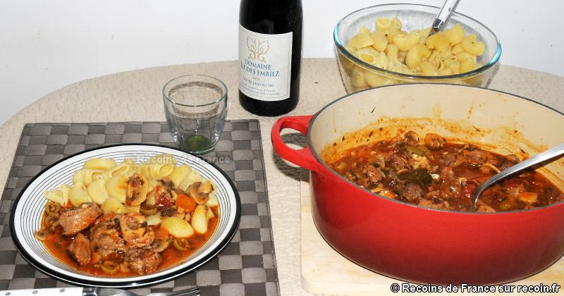 Veau Marengo aux olives