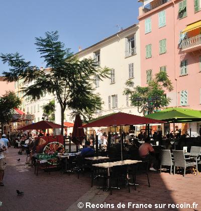 Place Clemenceau à Menton