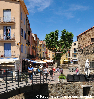Place de la République à Collioure